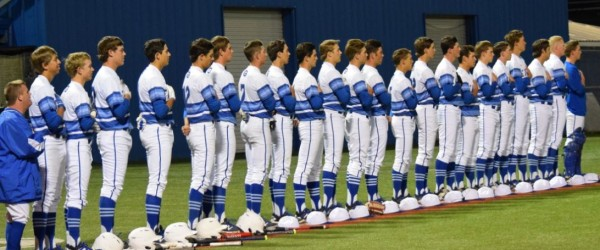 The Georgetown Eagles Varsity defeat Vandegrift (Austin, TX) after late game bases loaded walk, 4-2
